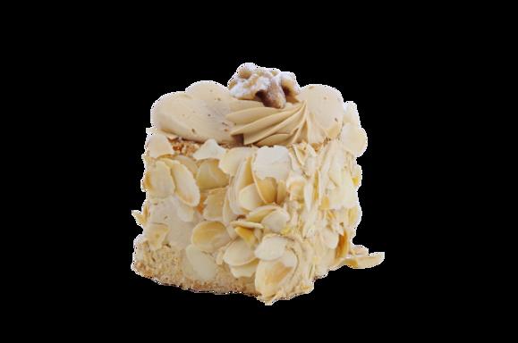 Afbeelding van Mokka cake gebak vierkant
